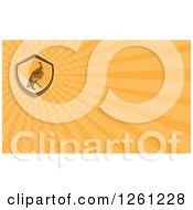 Clipart Of A Retro Turkey Bird Business Card Design Royalty Free Illustration