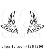 Black And White Wing Design
