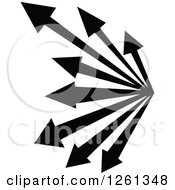 Clipart Of A Black And White Arrow Design Royalty Free Vector Illustration by Chromaco