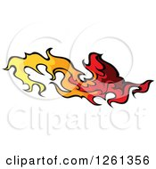Clipart Of A Fire Design Element Royalty Free Vector Illustration