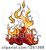 Clipart Of A Fire Design Element Royalty Free Vector Illustration by Chromaco