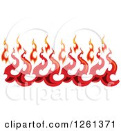 Clipart Of A Fire Border Design Element Royalty Free Vector Illustration