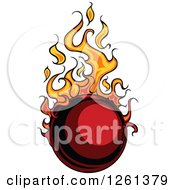 Clipart Of A Flaming Ball Design Element Royalty Free Vector Illustration