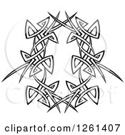 Clipart Of A Black And White Tribal Frame Design Element Royalty Free Vector Illustration by Chromaco