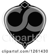 Clipart Of A Black And White Frame Royalty Free Vector Illustration by Chromaco