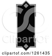 Clipart Of A Grayscale Frame Royalty Free Vector Illustration by Chromaco