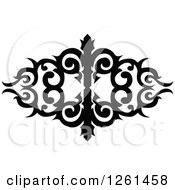 Black And White Ornate Swirl Design Element