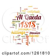 Clipart Of A Colorful ISIS And Al Qaeda Word Tag Collage Om White Royalty Free Vector Illustration