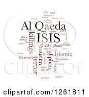 Clipart Of An ISIS And Al Qaeda Word Tag Collage On White Royalty Free Vector Illustration