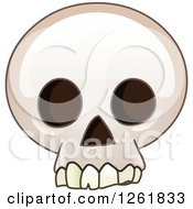 Poster, Art Print Of Cartoon Human Skull