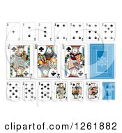 Clipart Of Club Suit Playing Cards Royalty Free Vector Illustration by AtStockIllustration