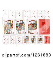 Clipart Of Diamonds Suit Playing Cards Royalty Free Vector Illustration