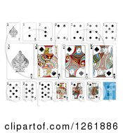 Clipart Of Spades Suit Playing Cards Royalty Free Vector Illustration by AtStockIllustration
