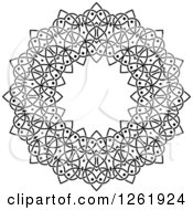 Clipart Of A Black And White Lace Circle Design Royalty Free Vector Illustration