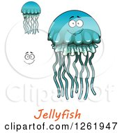 Blue And Green Jellyfishes