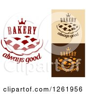Clipart Of Pie Crown And Bakery Always Good Designs Royalty Free Vector Illustration