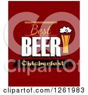 Clipart Of A Best Beer Oktoberfest Design Royalty Free Vector Illustration