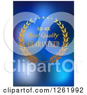 Clipart Of A Best Quality Guaranteed Design On Blue Royalty Free Vector Illustration by Vector Tradition SM