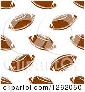 Seamless Background Pattern Of American Footballs