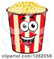 Clipart Of A Happy Popcorn Bucket Character Royalty Free Vector Illustration by Vector Tradition SM
