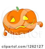 Clipart Of A Jackolantern Pumpkin Royalty Free Illustration by Julos