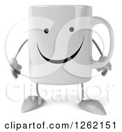 Clipart Of A 3d Happy Coffee Mug Royalty Free Illustration