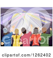 Clipart Of A Crowd At A Concert Royalty Free Vector Illustration