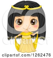 Clipart Of A Cute Girl Posing In An Egyptian Costume Royalty Free Vector Illustration by BNP Design Studio