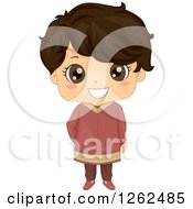 Clipart Of A Cute Boy In Traditional Indian Dress Royalty Free Vector Illustration by BNP Design Studio