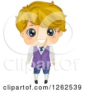 Clipart Of A Cute Blond Boy In A Renaissance Costume Royalty Free Vector Illustration