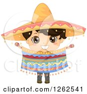 Clipart Of A Cute Hispanic Boy In A Traditional Mexican Costume Royalty Free Vector Illustration by BNP Design Studio