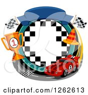Clipart Of A Car Racing Frame Royalty Free Vector Illustration