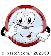 Clipart Of A Clock Adjusting Its Hands Royalty Free Vector Illustration by BNP Design Studio