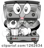 Happy Espresso Maker Machine Making Coffee