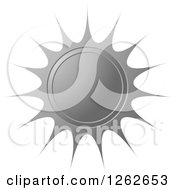 Clipart Of A Sunburst Silver Seal Tag Label Royalty Free Vector Illustration by Lal Perera
