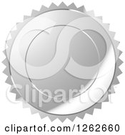 Clipart Of A Silver Burst Tag Label Seal Royalty Free Vector Illustration