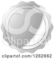 Clipart Of A Silver Wax Seal Tag Label Royalty Free Vector Illustration by Lal Perera