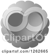 Clipart Of A Silver Heart Tag Label Royalty Free Vector Illustration by Lal Perera