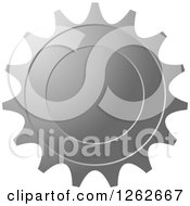 Clipart Of A Gear Like Silver Tag Label Royalty Free Vector Illustration by Lal Perera