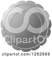Clipart Of A Floral Like Silver Tag Label Royalty Free Vector Illustration