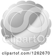 Clipart Of A Floral Like Silver Tag Label Royalty Free Vector Illustration by Lal Perera
