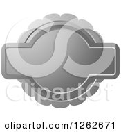 Clipart Of A Doily Like Silver Tag Label With Text Space Royalty Free Vector Illustration