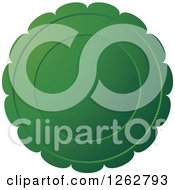 Clipart Of A Floral Like Green Tag Label Royalty Free Vector Illustration