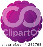 Clipart Of A Floral Like Purple Tag Label Royalty Free Vector Illustration