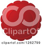 Clipart Of A Floral Like Red Tag Label Royalty Free Vector Illustration