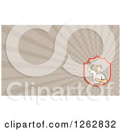 Clipart Of A Retro Filming Cameraman And Rays Business Card Design Royalty Free Vector Illustration
