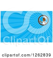 Clipart Of A Cartoon African American Chef Giving A Thumb Up And Rays Business Card Design Royalty Free Vector Illustration