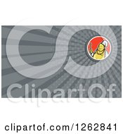 Clipart Of A Buddha Chef And Rays Business Card Design Royalty Free Vector Illustration