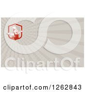 Clipart Of A Happy Chef And Rays Business Card Design Royalty Free Vector Illustration