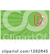Clipart Of A Mexican Chef And Rays Business Card Design Royalty Free Vector Illustration